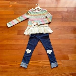 NWT Little Lass Sweater/Leggings Set